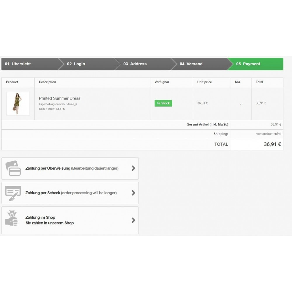 module - Zahlung am POS - Zahlung im Shop - 1
