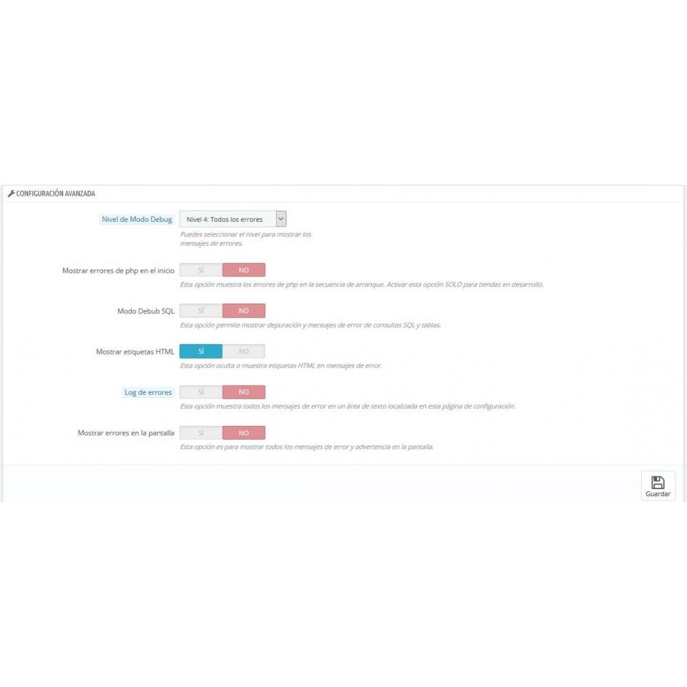 module - Seguridad y Accesos - Selector modo Debug - Basado en direcciones IP - 4