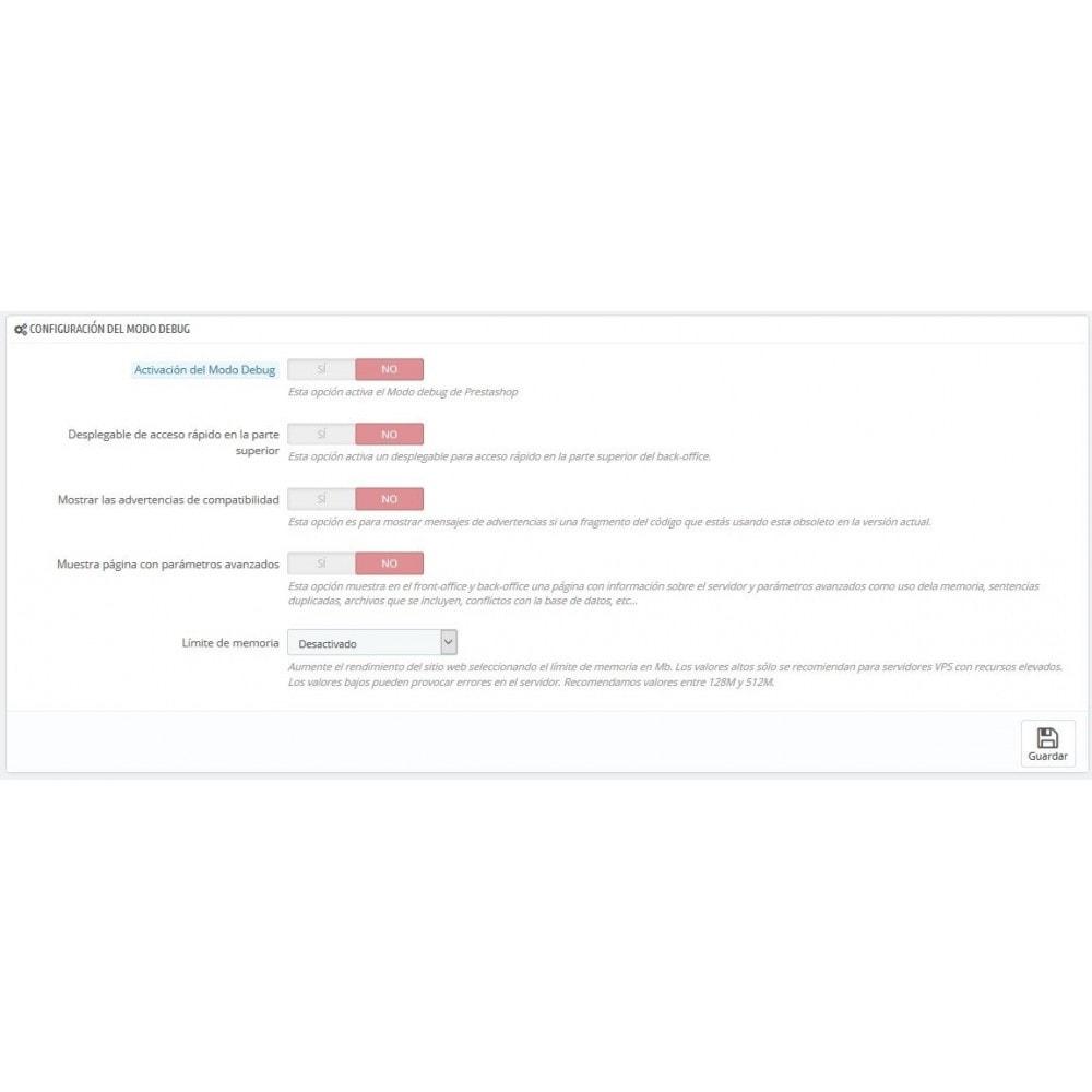 module - Seguridad y Accesos - Selector modo Debug - Basado en direcciones IP - 6
