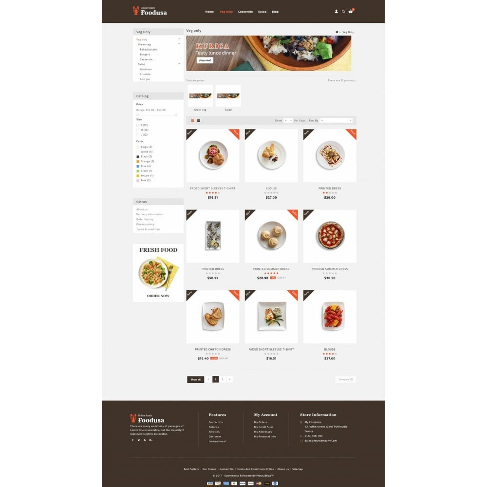 theme - Lebensmittel & Restaurants - Foodusa Store - 3