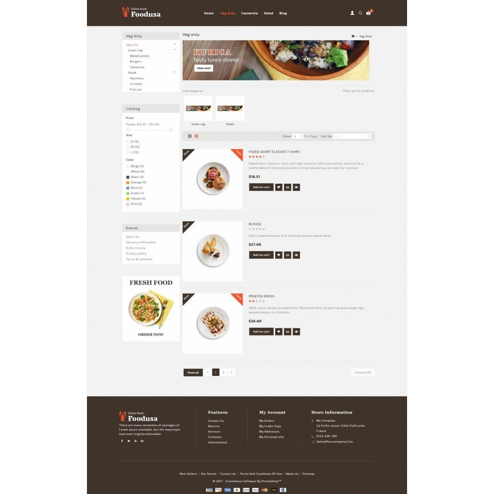 theme - Lebensmittel & Restaurants - Foodusa Store - 4
