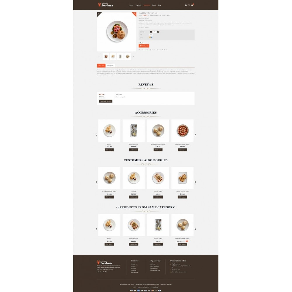 theme - Lebensmittel & Restaurants - Foodusa Store - 5