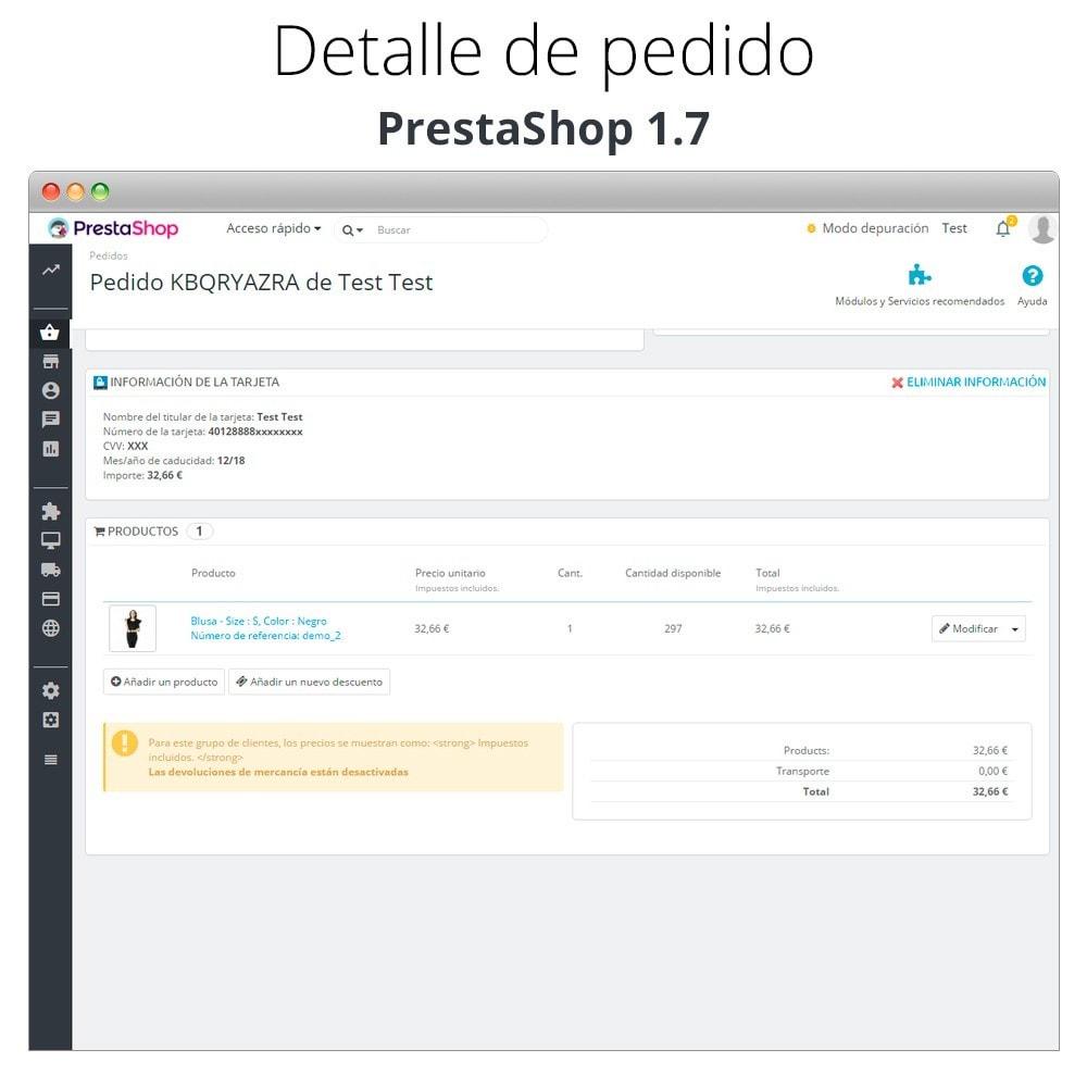 module - TPV (POS) - Pago offline/manual con tarjeta de crédito/débito - 12