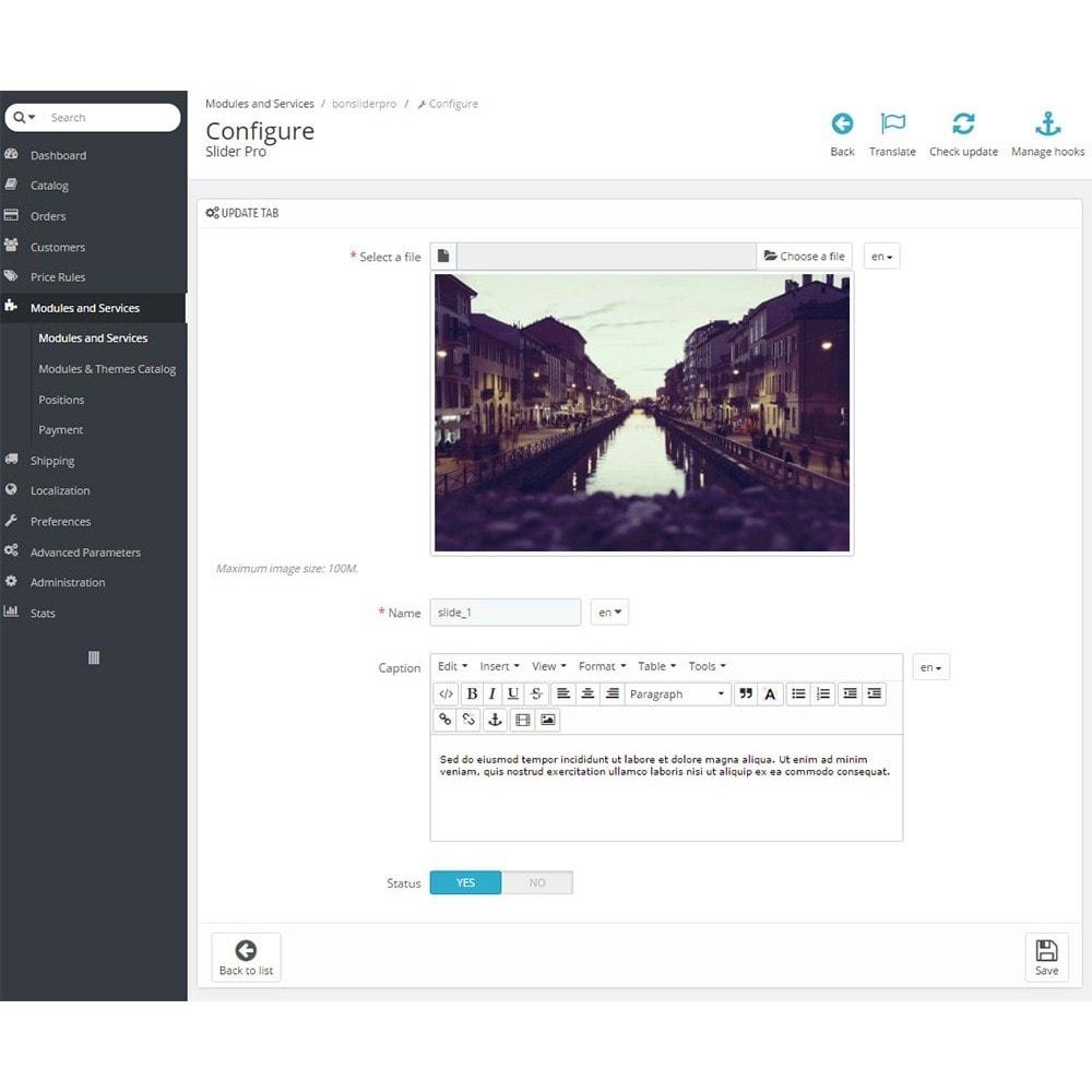 module - Sliders y Galerías de imágenes - Professional Image Slider Pro - 4