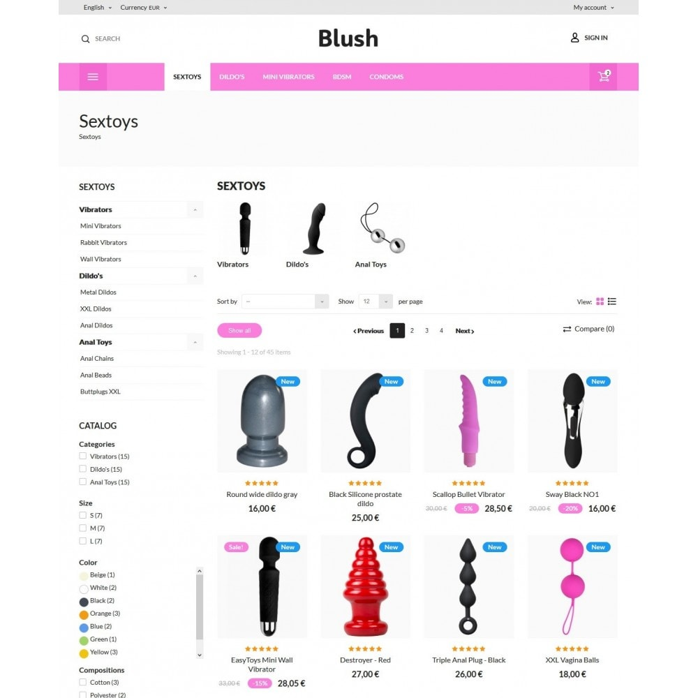 theme - Lingerie & Adulte - Blush - Sex Shop - 6
