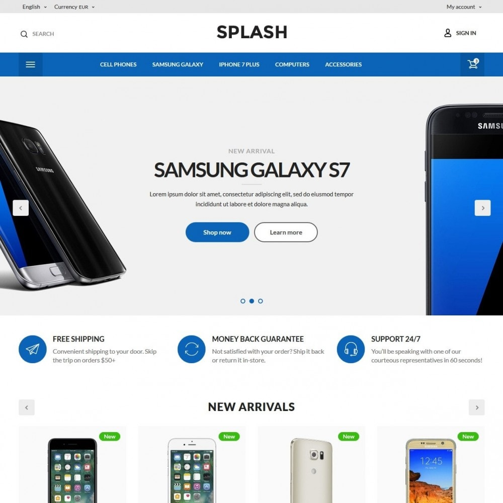 theme - Electronique & High Tech - Splash High-tech Shop - 2