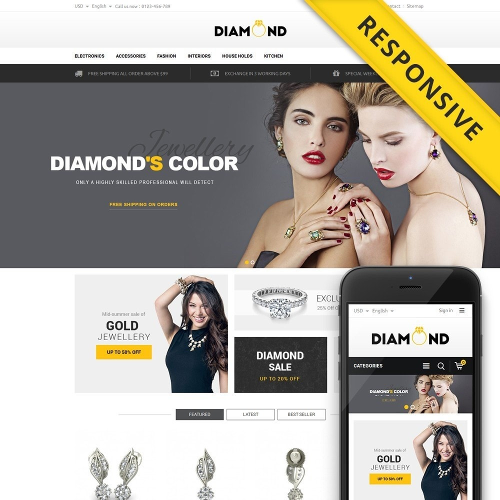 theme - Jewelry & Accessories - Diamond Store - 1