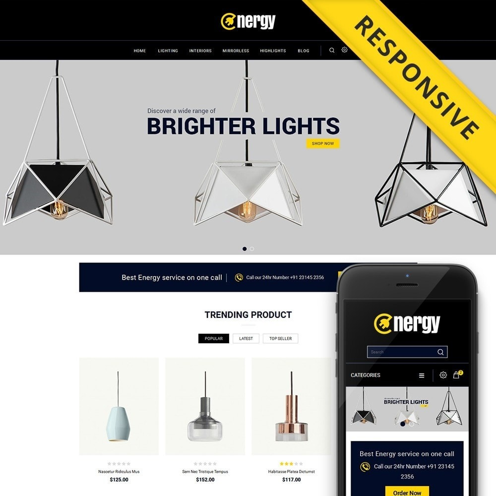 theme - Elektronica & High Tech - Energy lighting Store - 1