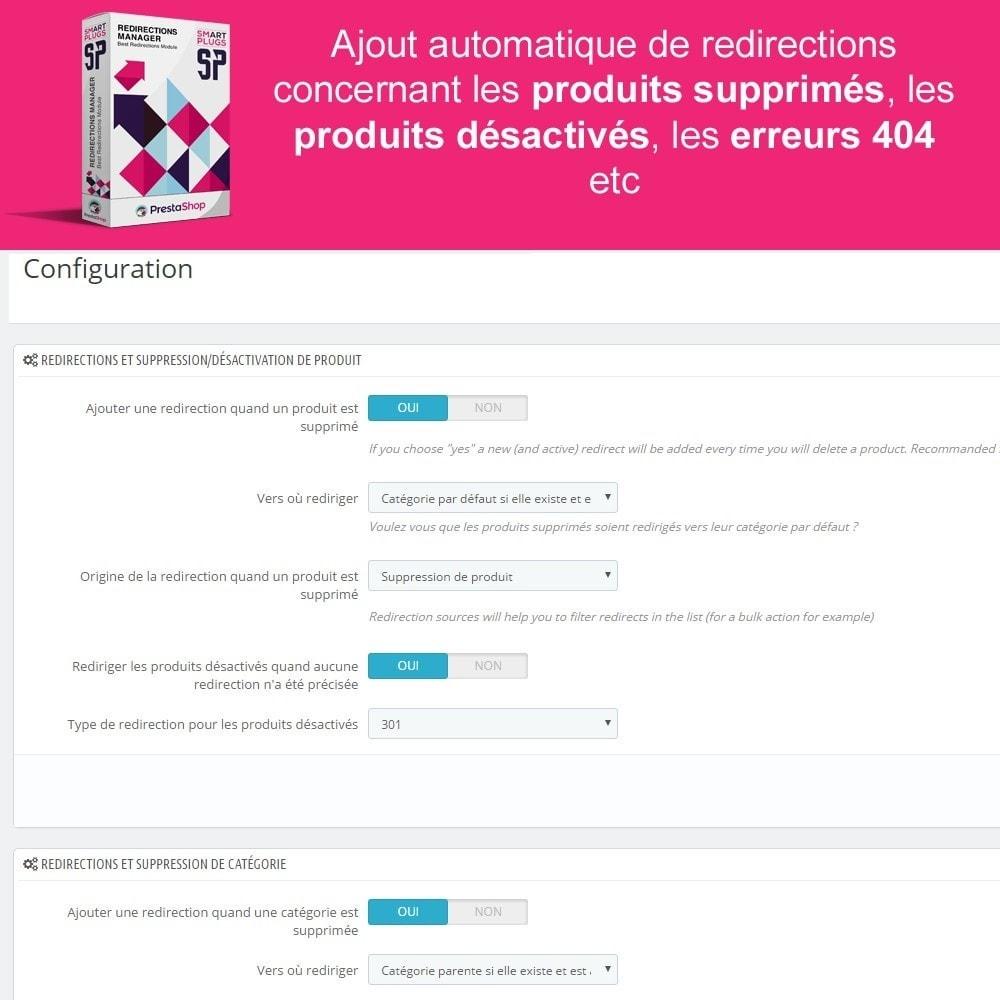 module - URL & Redirections - Redirections Manager - Gérez les 301, 302 et urls 404 - 3