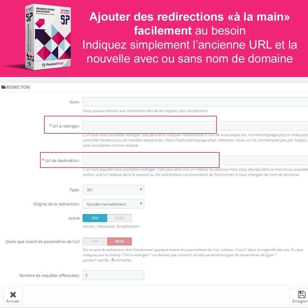 module - URL & Redirections - Redirections Manager - Gérez les 301, 302 et urls 404 - 5