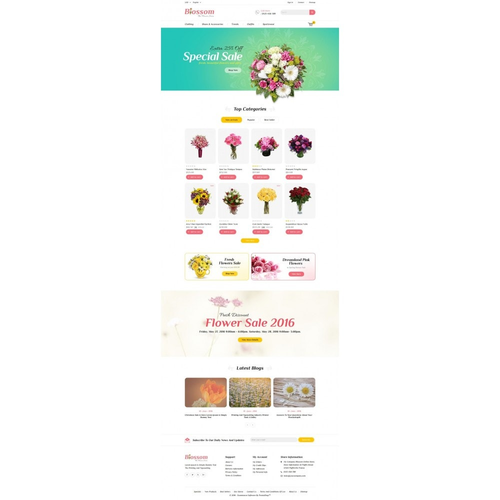 theme - Gifts, Flowers & Celebrations - Blossom - The Flower Store - 2