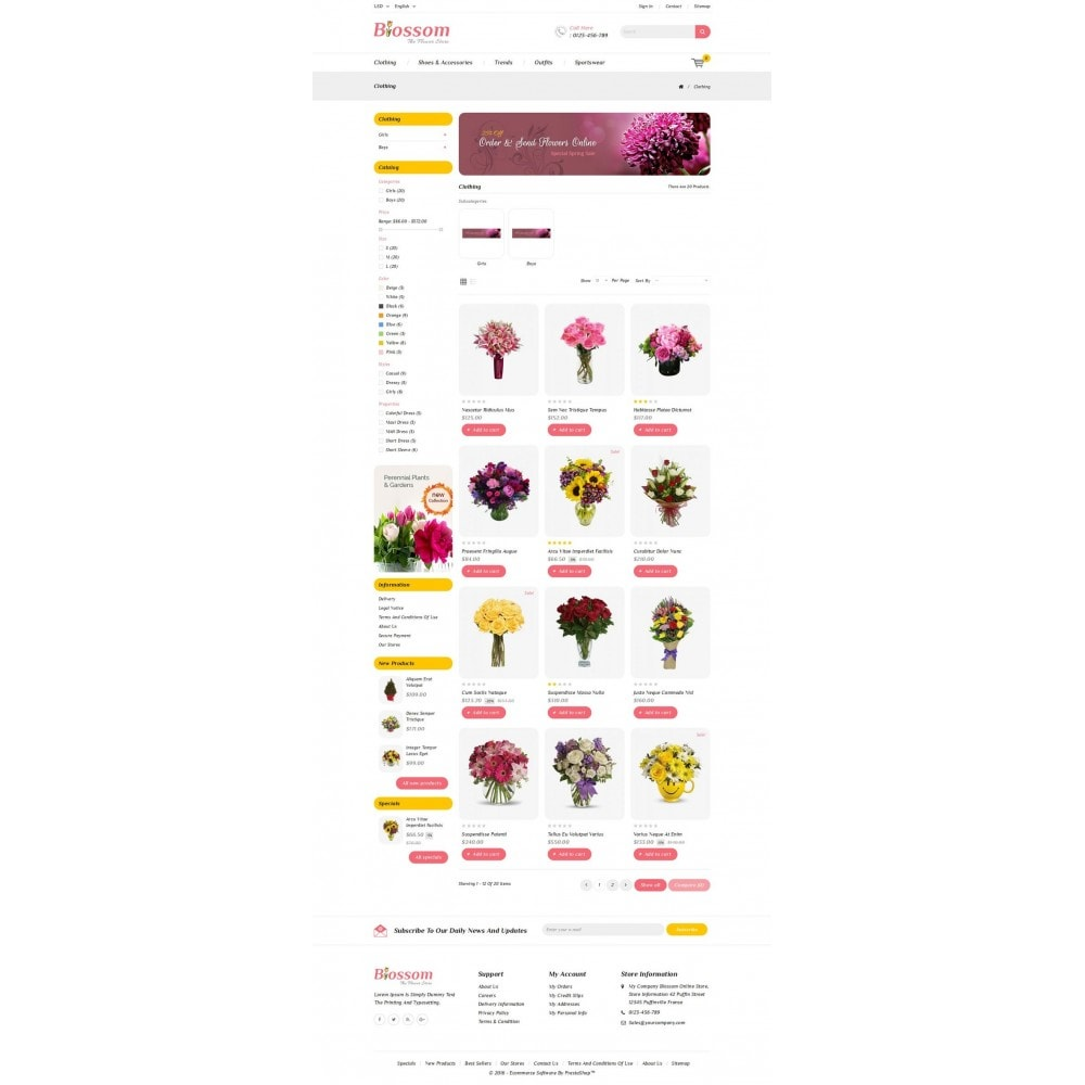 theme - Gifts, Flowers & Celebrations - Blossom - The Flower Store - 3