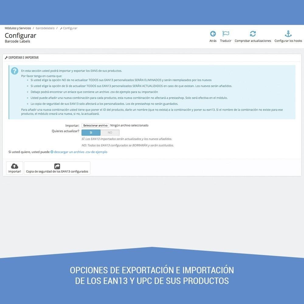 module - Preparación y Envíos - Etiquetas para productos EAN13 UPC - 4
