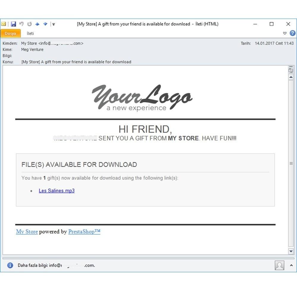 module - Productos Digitales (de descarga) - Send the Virtual File to a Friend as a Gift - 4