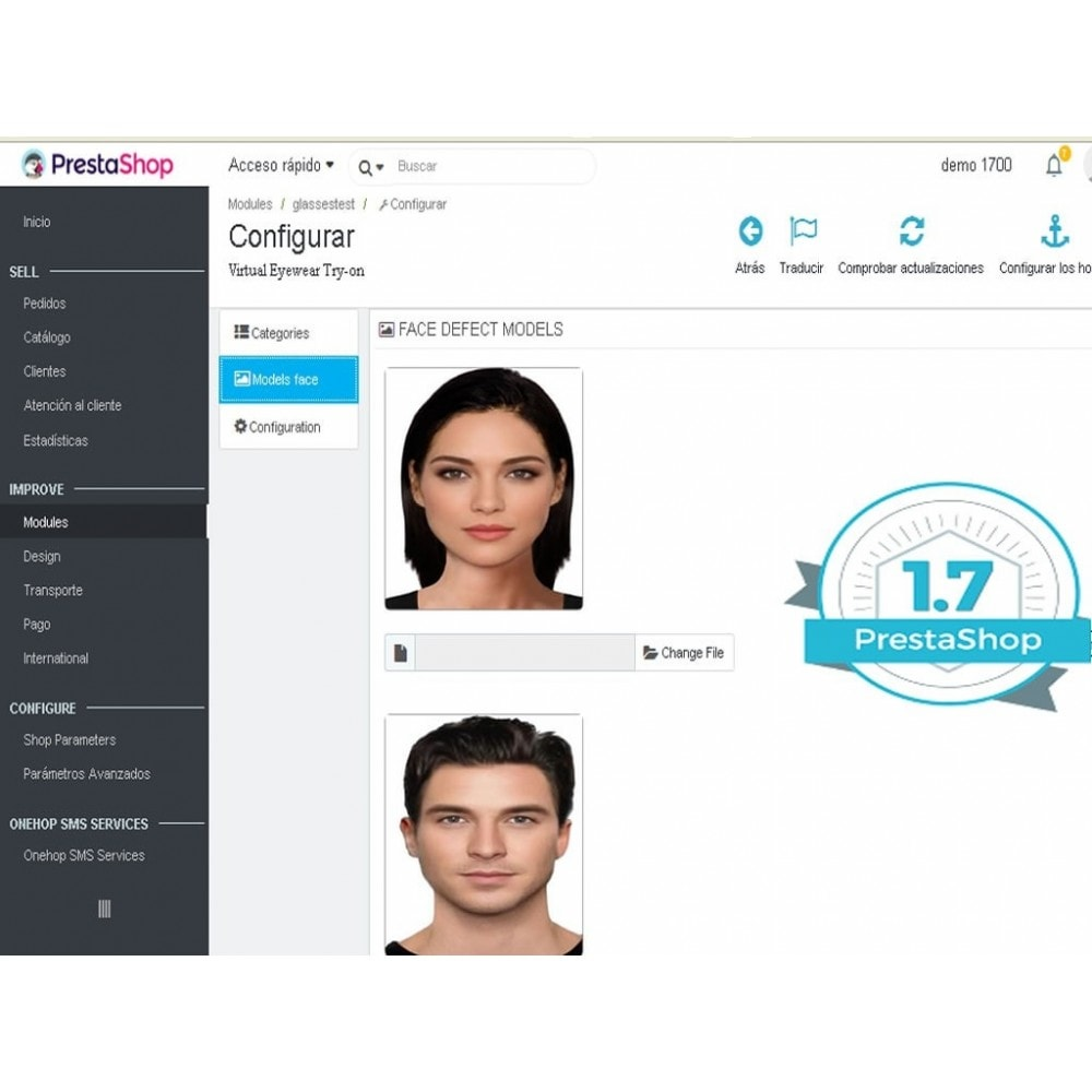 module - Виртуальных товаров - Virtual Try-on Eyeglasses Online - 3