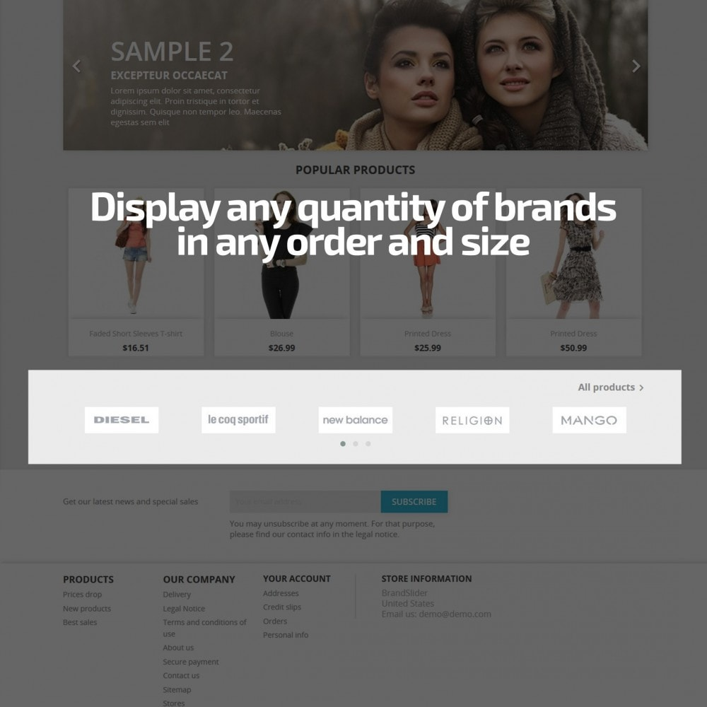 module - Slidery & Galerie - AN Brand Slider: partners, manufacturers logo carousel - 3
