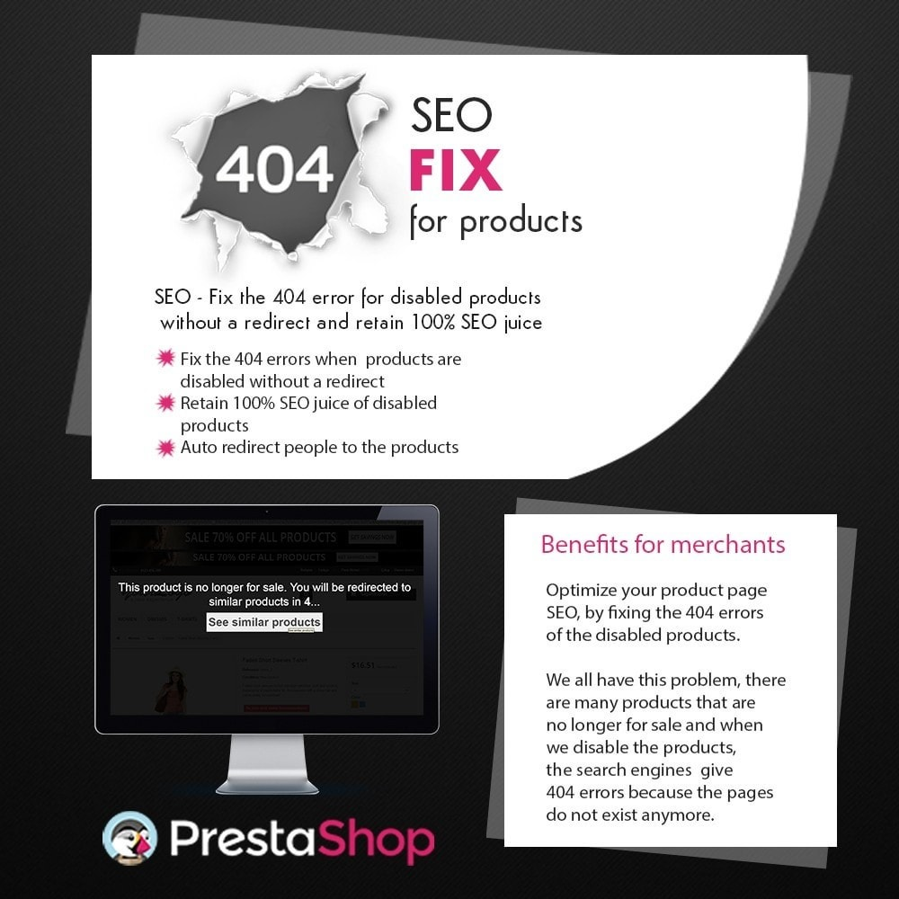 module - URL & Redirections - SEO - 404 Fix for Products - 1