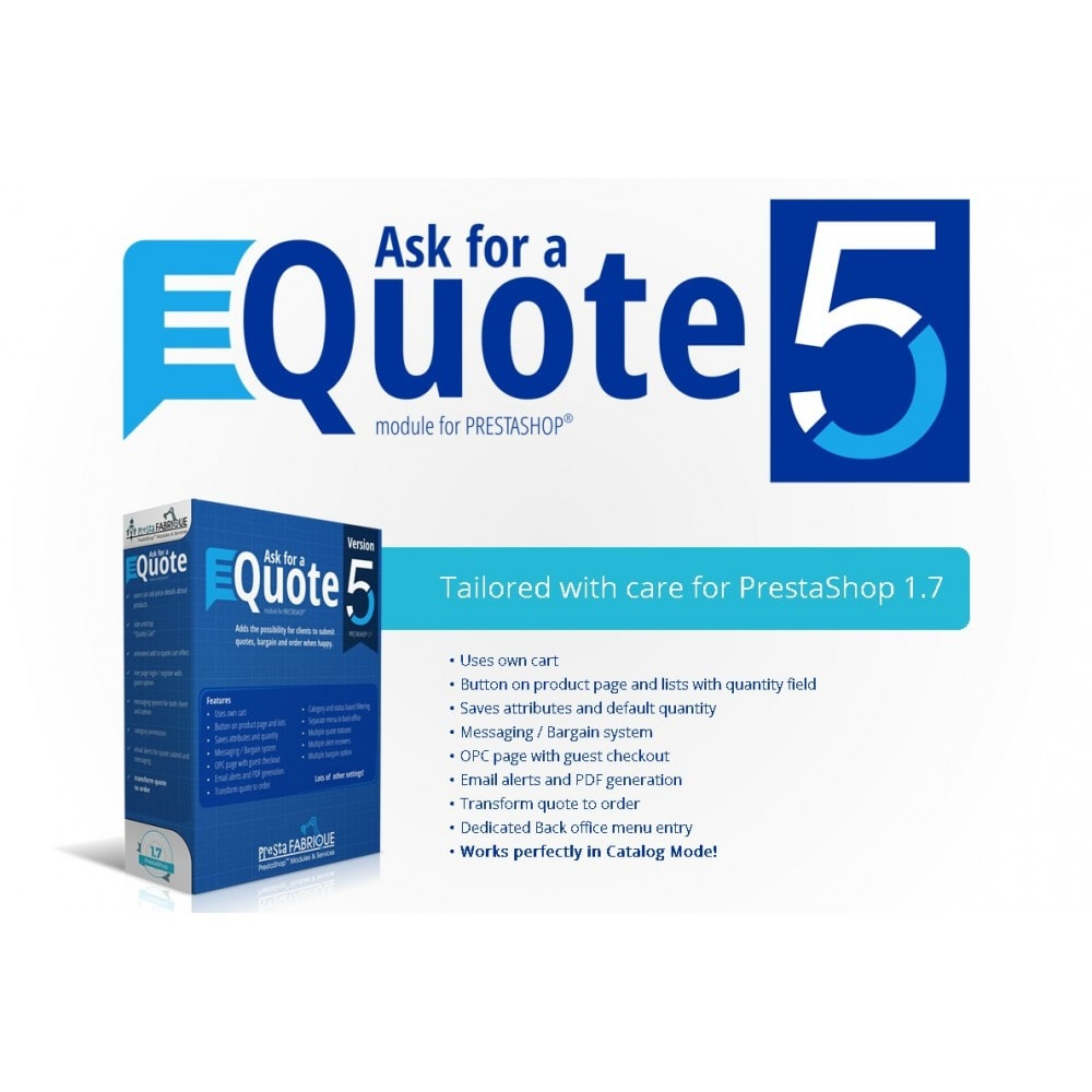 module - Angebotsmanagement - Ask for a Quote - Convert to order, messaging system - 1
