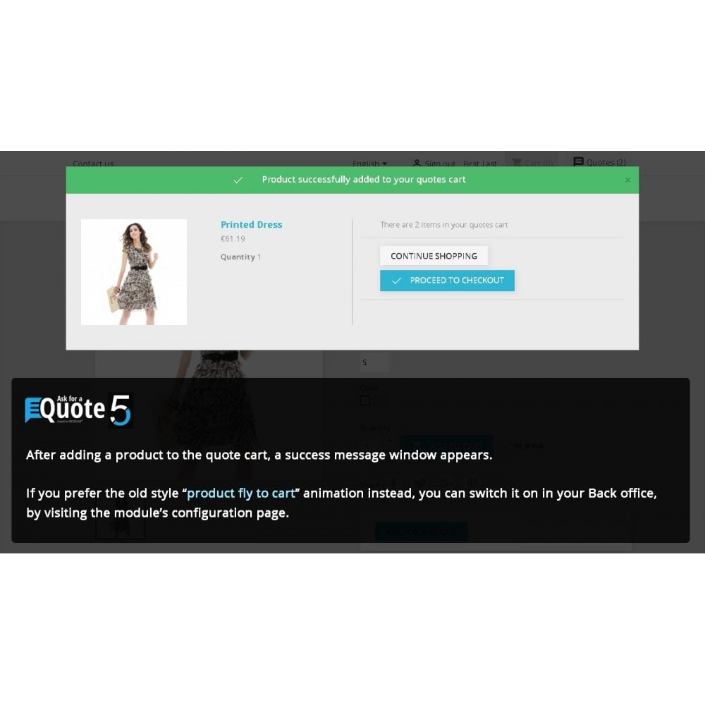 module - Angebotsmanagement - Ask for a Quote - Convert to order, messaging system - 4