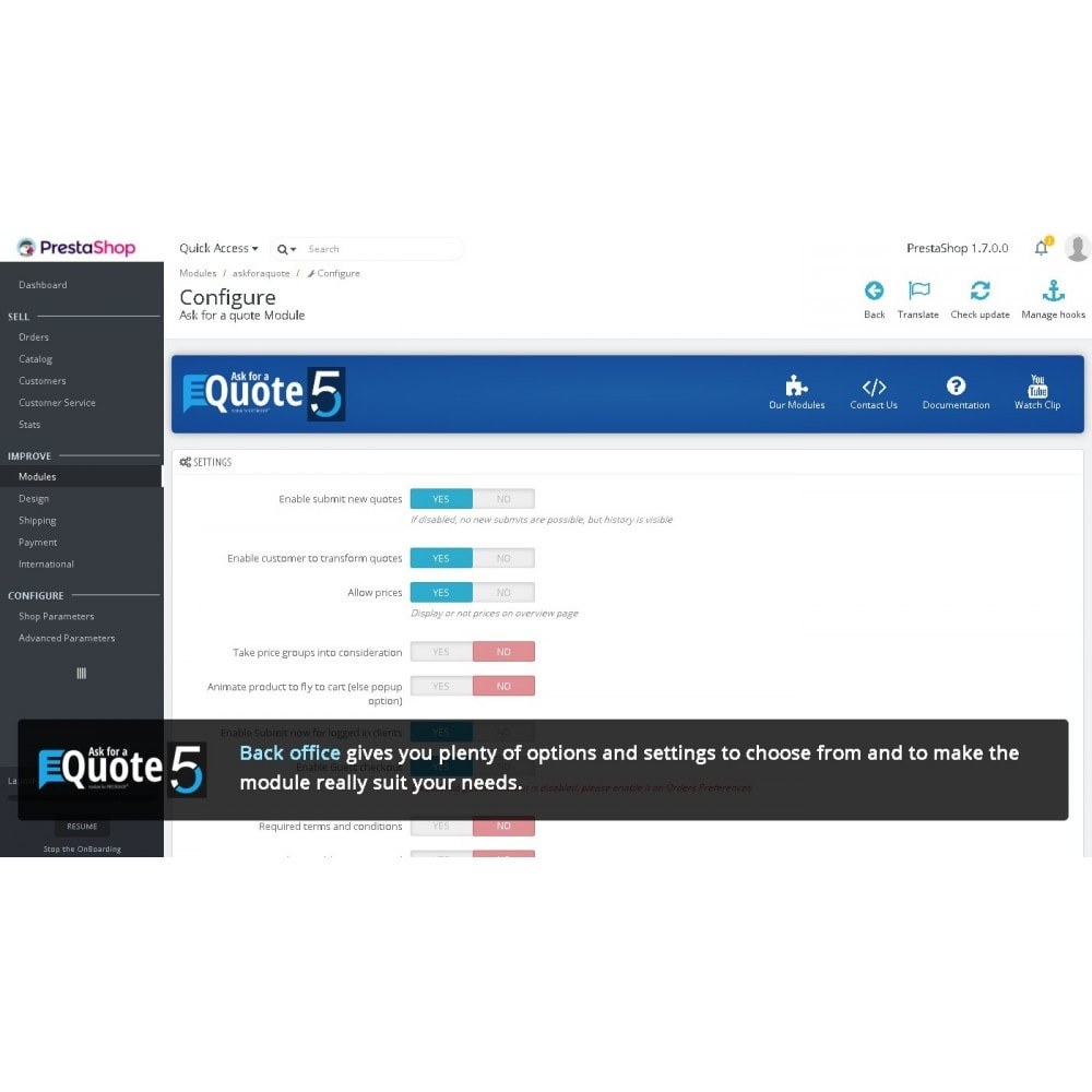 module - Angebotsmanagement - Ask for a Quote - Convert to order, messaging system - 9