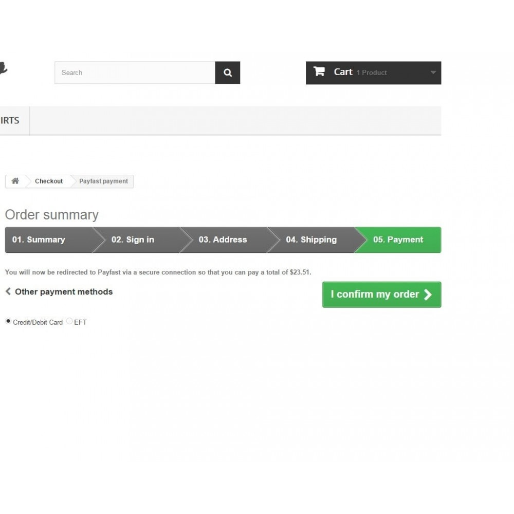 module - Pagamento por cartão ou por carteira - Payfast Payment Gateway - 2