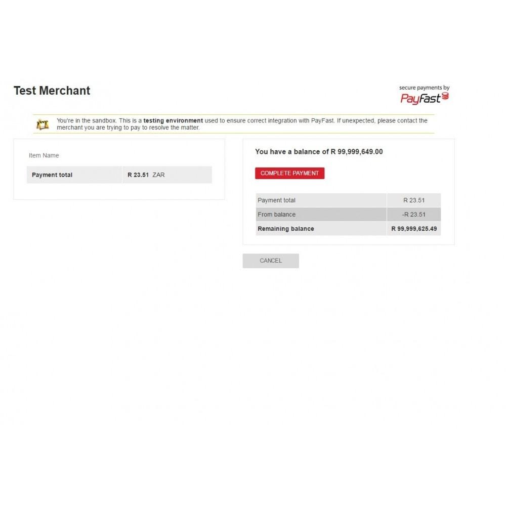 module - Pagamento por cartão ou por carteira - Payfast Payment Gateway - 3