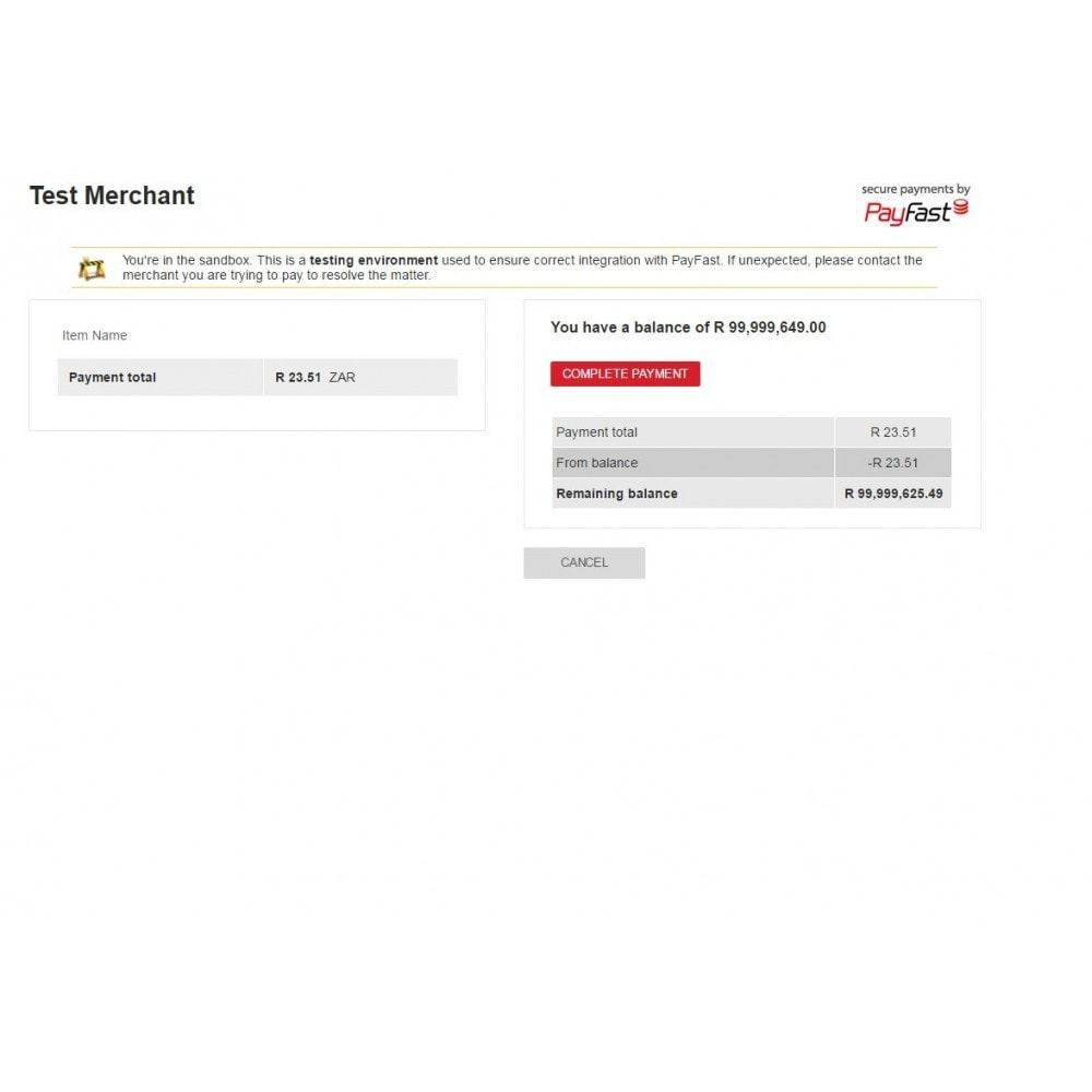 module - Creditcardbetaling of Walletbetaling - Payfast Payment Gateway - 3