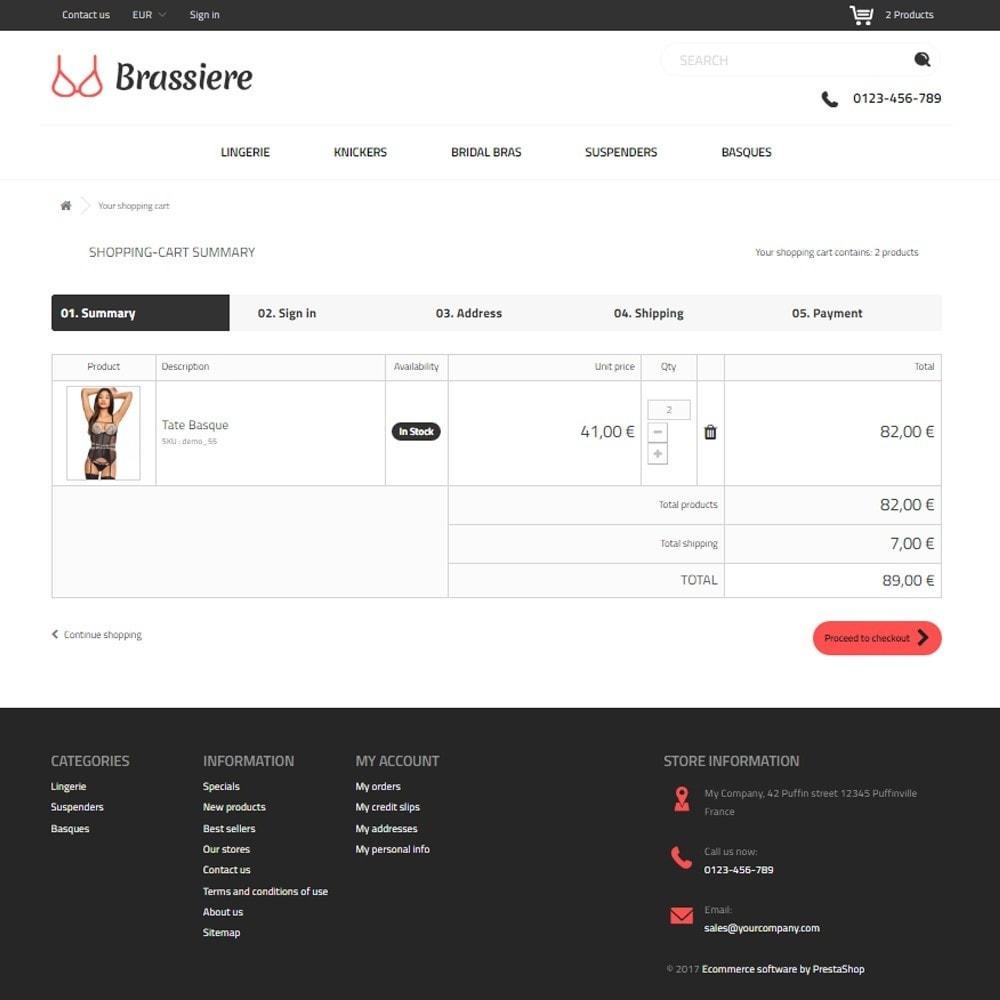 theme - Lingerie & Adulte - Brassiere SexShop - 5