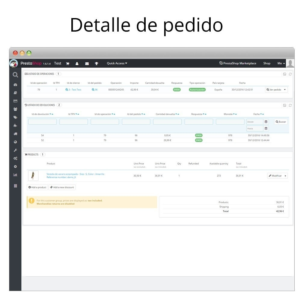 module - Pagamento con Carta di Credito o Wallet - Redsys Insite virtual POS card payment and refunds - 6