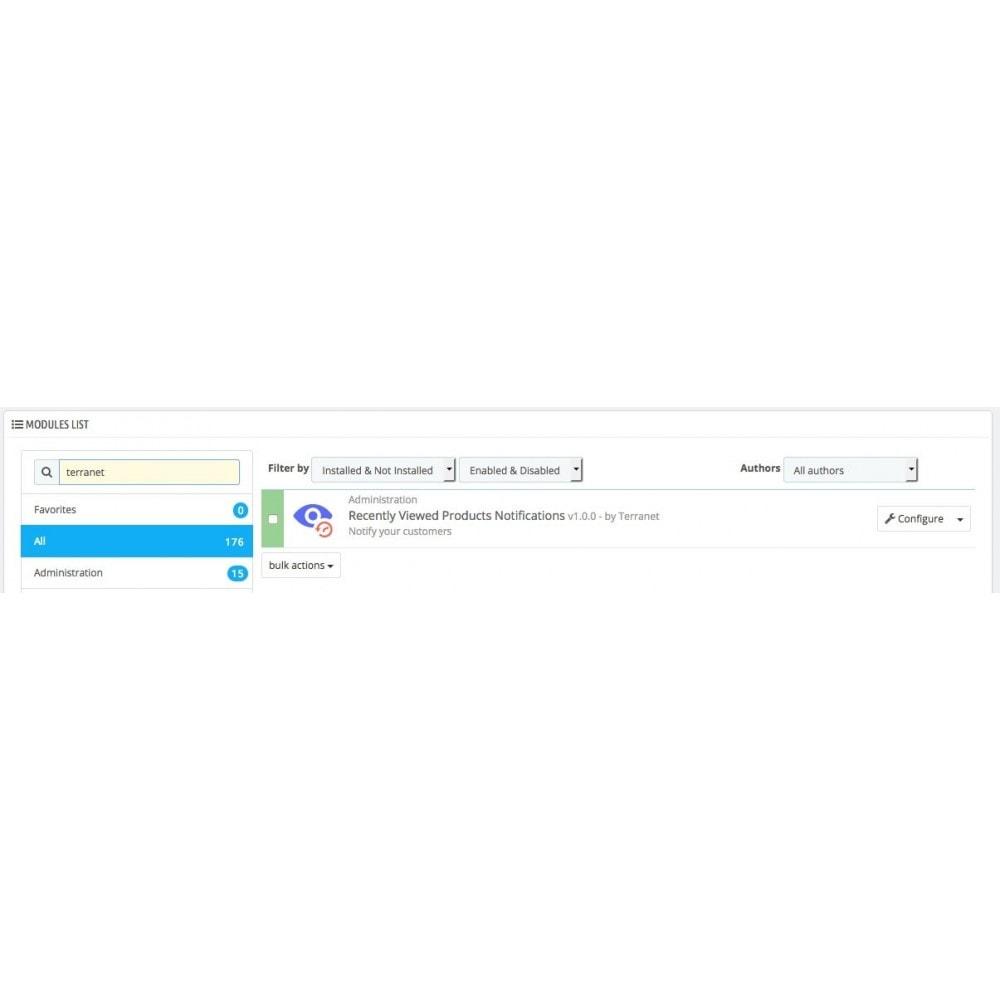 module - Vendas cruzadas & Pacotes de produtos - Recently Viewed Products Notifications - 3