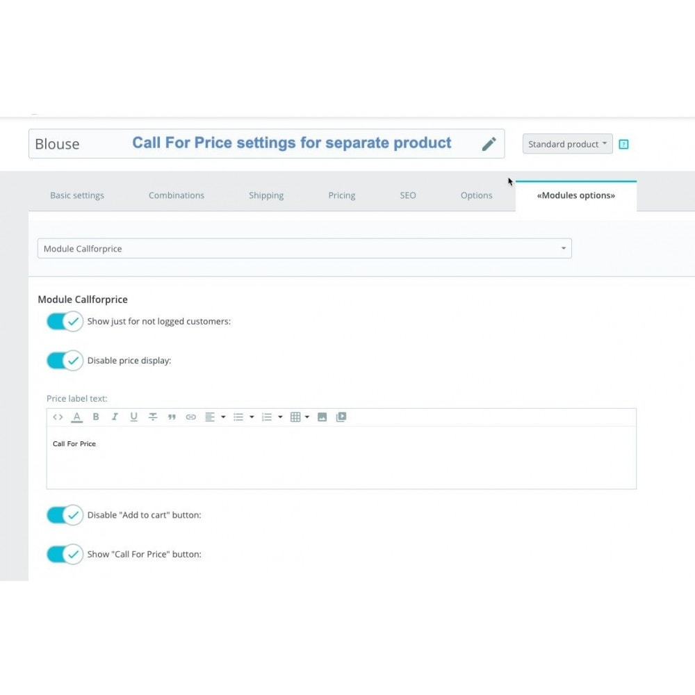 module - Supporto & Chat online - Call For Price + Call Back Product Button - 10