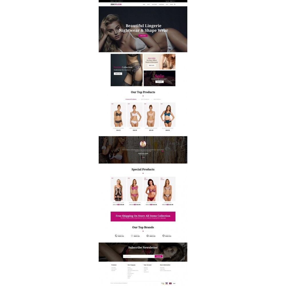 theme - Lingerie & Adulti - Zero Look online Store - 2