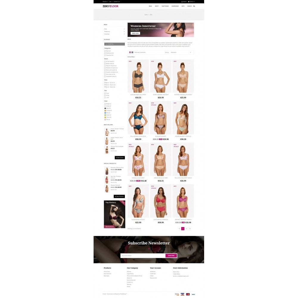 theme - Lingerie & Adulti - Zero Look online Store - 3