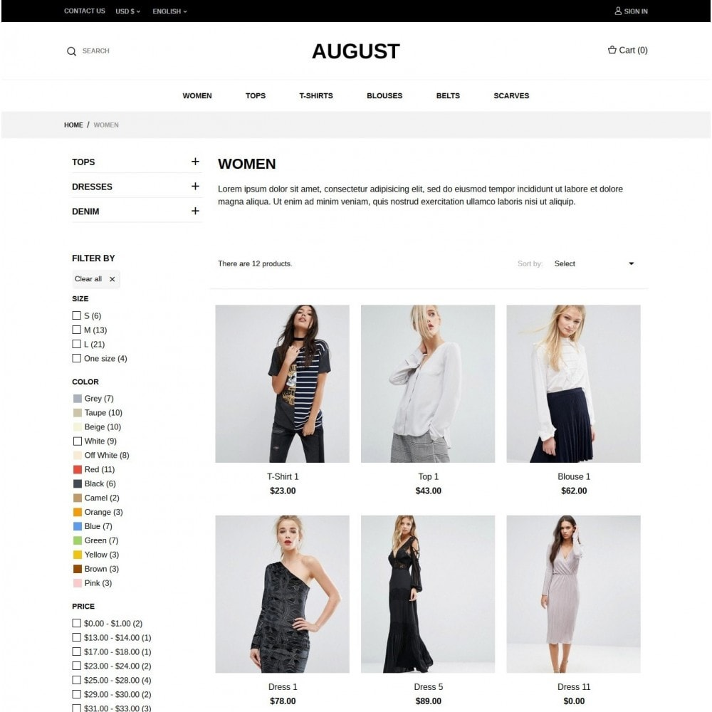 theme - Mode & Chaussures - August Fashion Store - 4