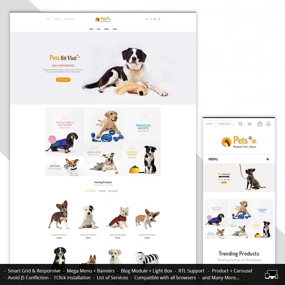 theme - Animaux - Animal Pets Store - 1