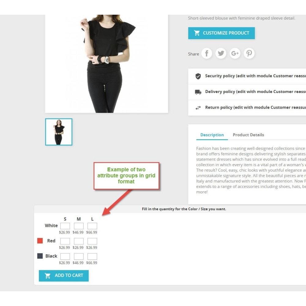 module - Combinations & Product Customization - Attribute Grid - 2