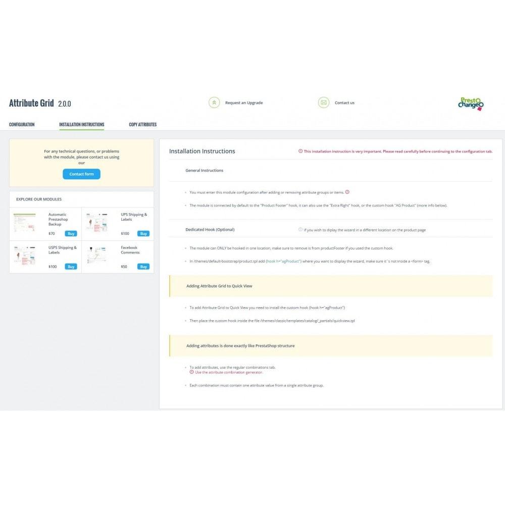 module - Combinations & Product Customization - Attribute Grid - 8