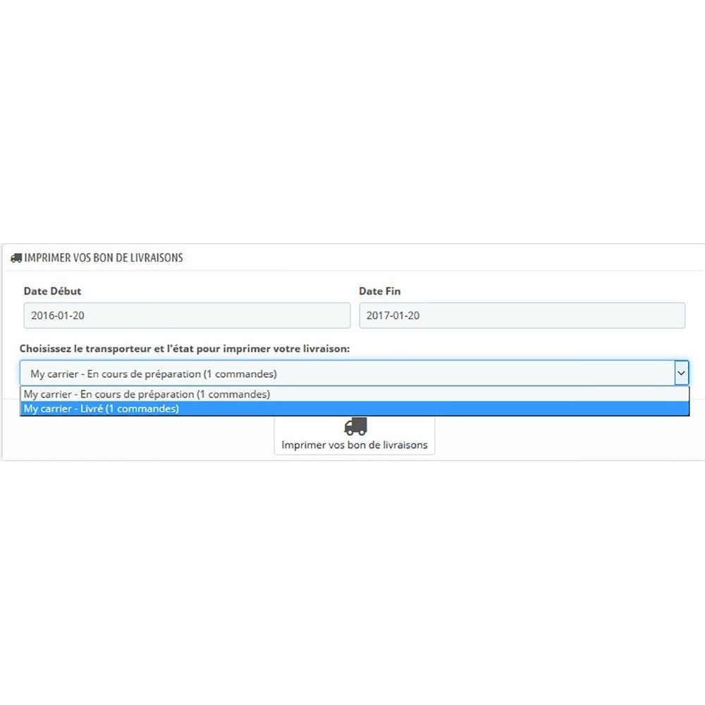 module - Preparation & Shipping - Print Order By Carrier And Order Status - 2