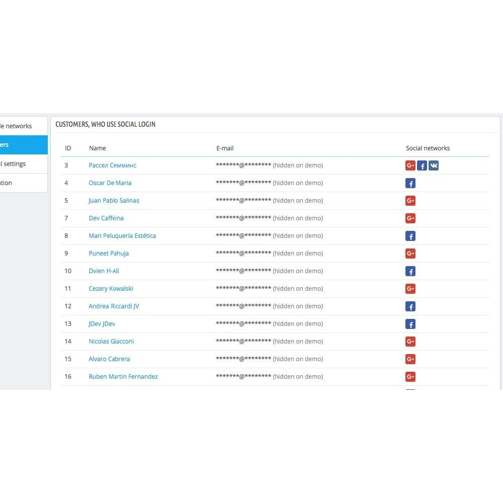 module - Inloggen - Login using social profiles - 4
