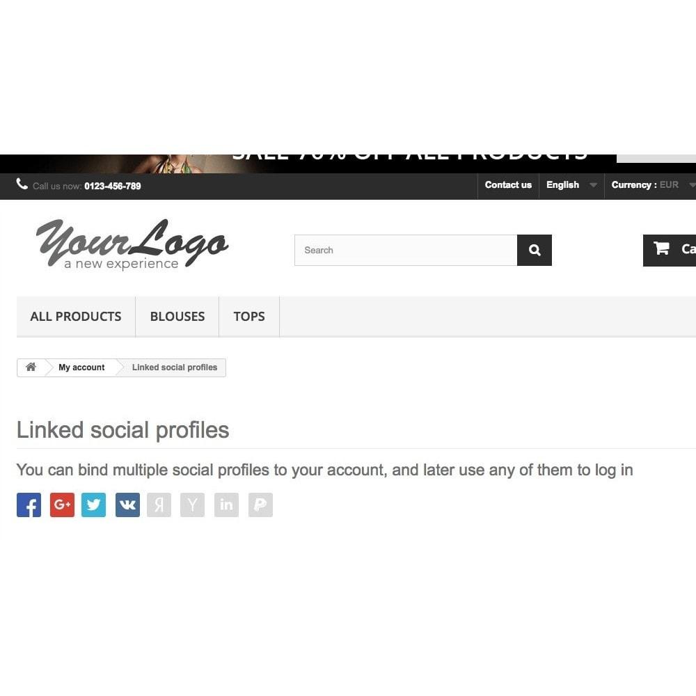module - Inloggen - Login using social profiles - 5