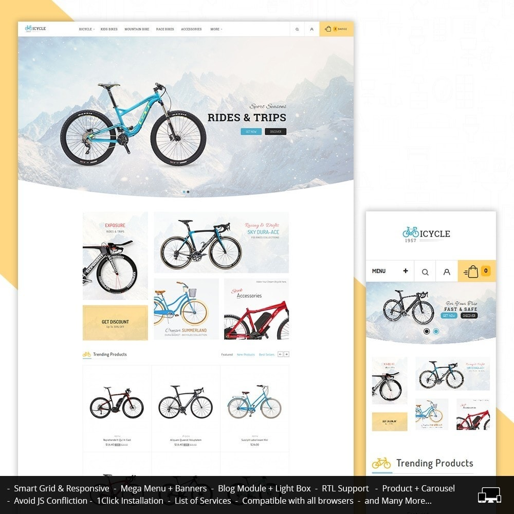 theme - Sports, Activities & Travel - Sport Bicycle Store - 1