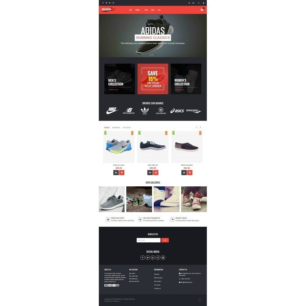 theme - Mode & Chaussures - VP_Sneakers - Page Builder - 2