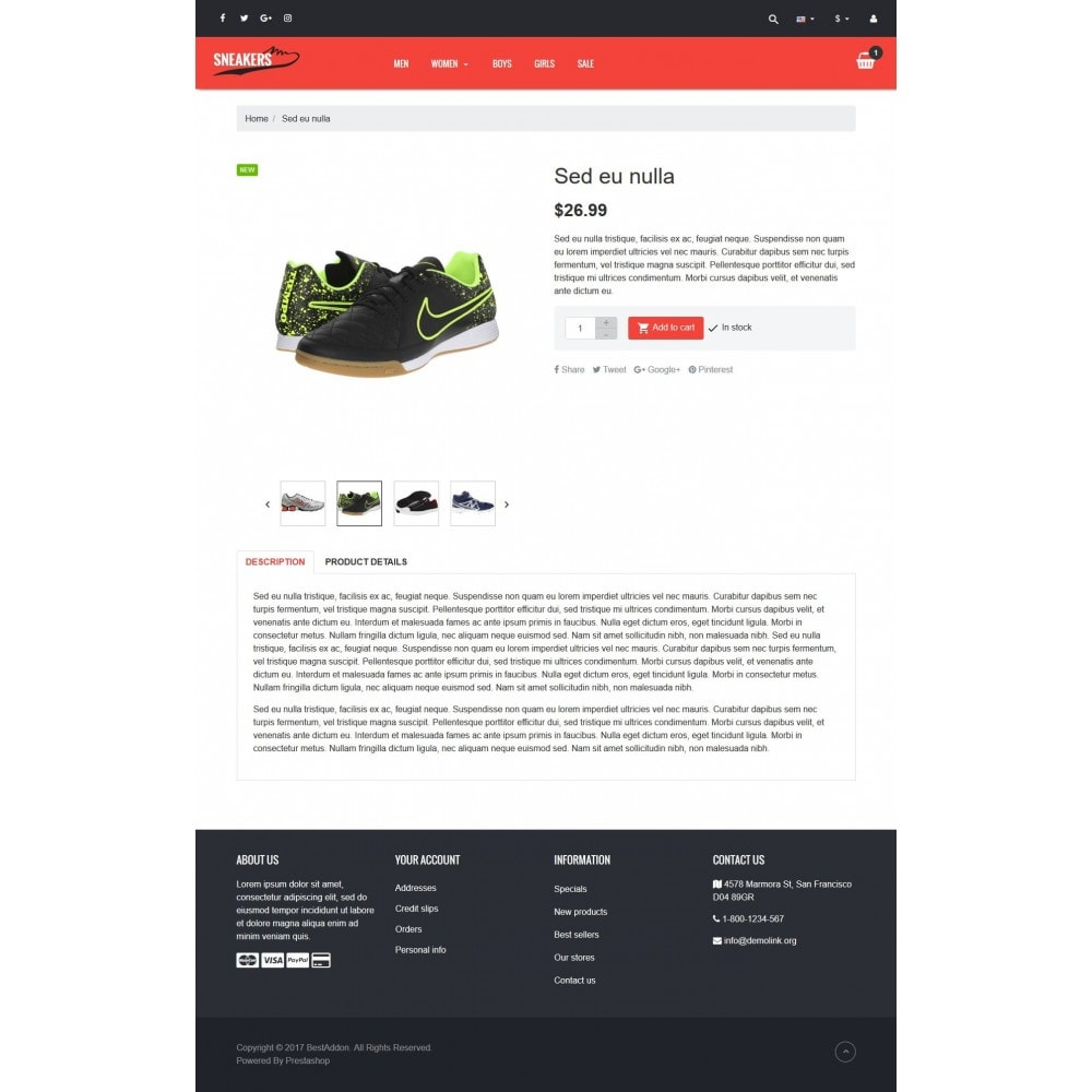theme - Mode & Chaussures - VP_Sneakers - Page Builder - 4
