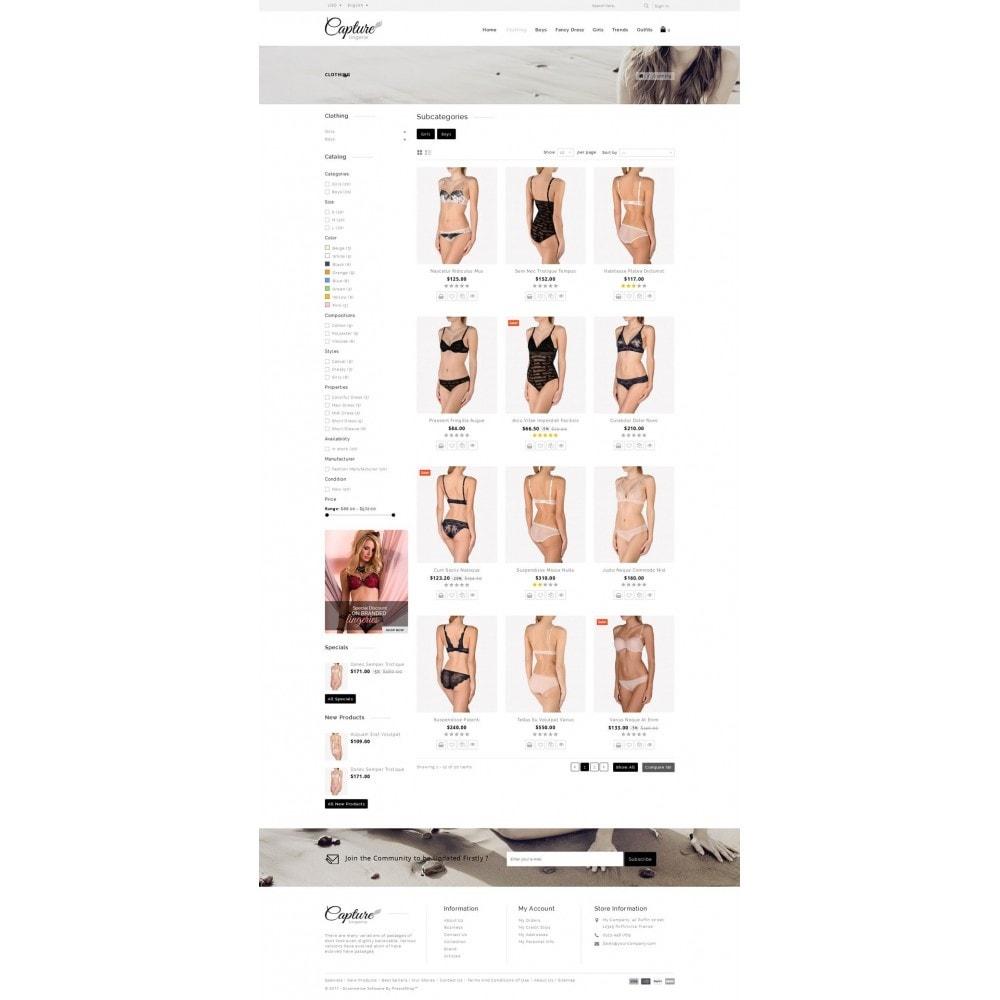 Capture Lingerie Online Store - PrestaShop Addons
