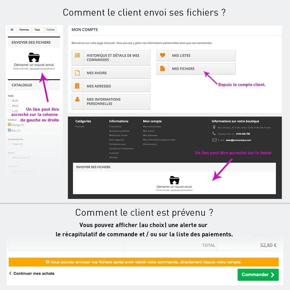 module - Inscription & Processus de commande - Envoi de fichiers par le client - 2