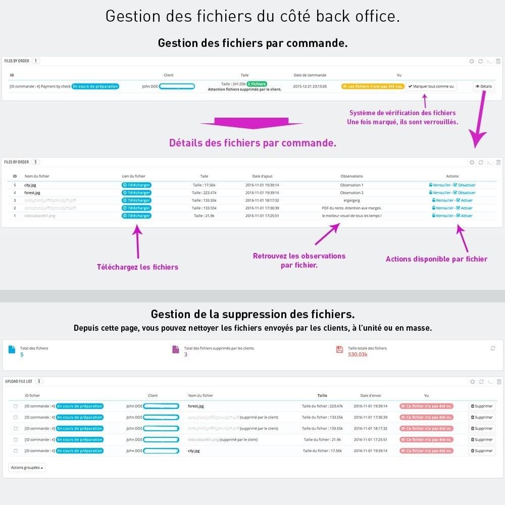 module - Inscription & Processus de commande - Envoi de fichiers par le client - 6