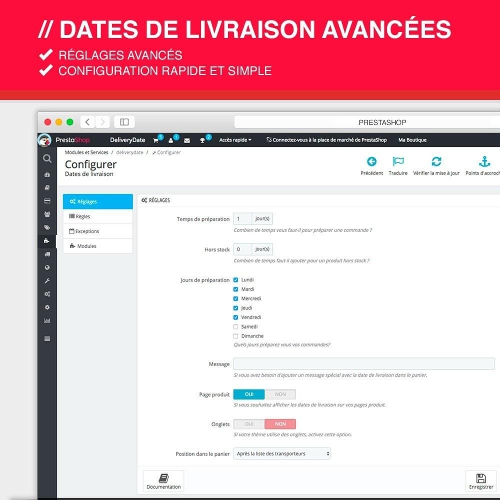 module - Date de livraison - Dates de livraison avancées - 2
