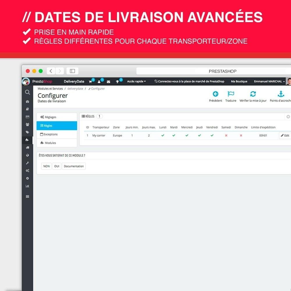 module - Date de livraison - Dates de livraison avancées - 3