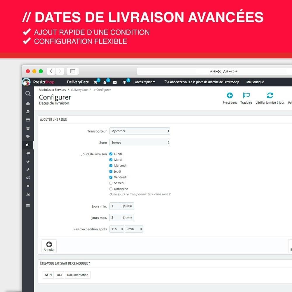 module - Date de livraison - Dates de livraison avancées - 4