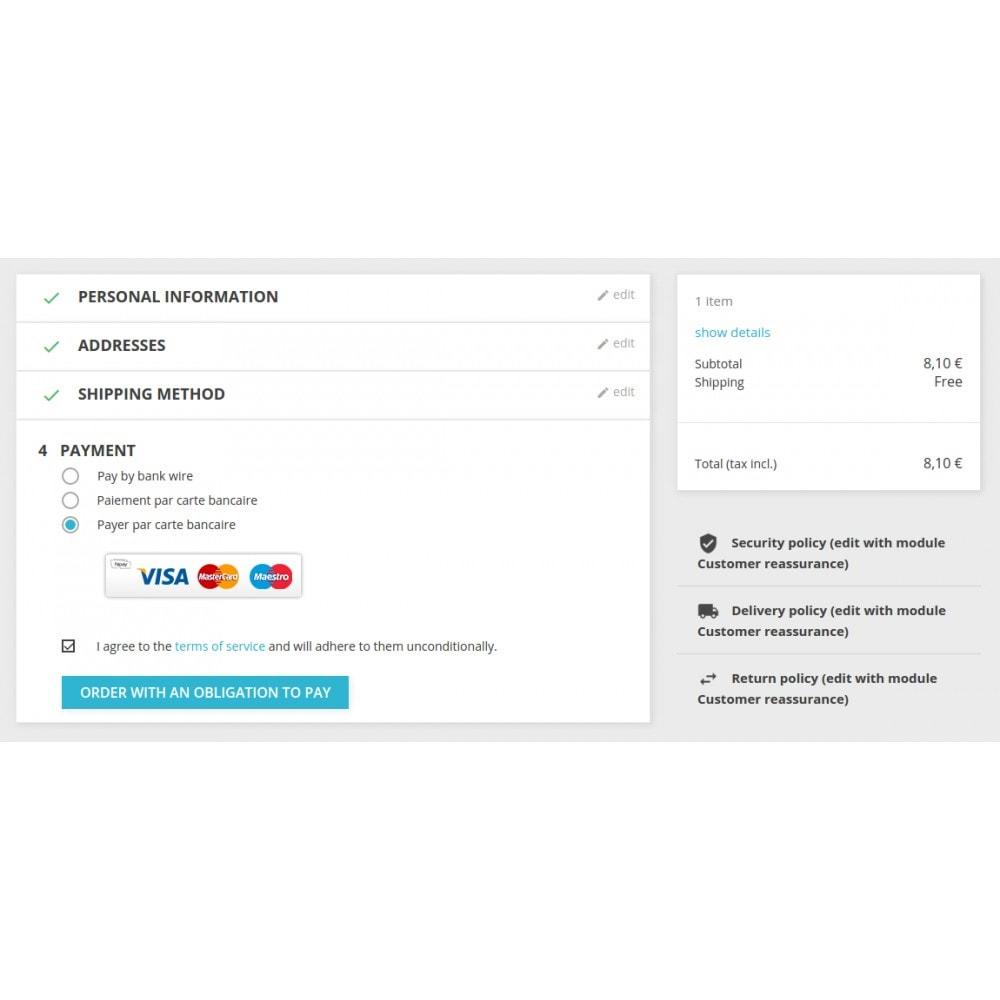 module - Pagamento por cartão ou por carteira - HiPay - 2